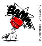 boxing gloves punch. cartoon... | Shutterstock .eps vector #249210742