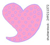 hand drawn heart with... | Shutterstock .eps vector #249211372