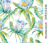 tropical seamless pattern.... | Shutterstock .eps vector #249215146