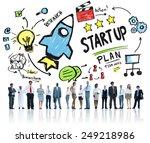start up business launch...   Shutterstock . vector #249218986