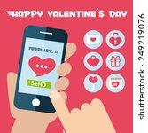 set smart phone app concept.... | Shutterstock .eps vector #249219076