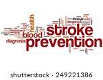 stroke prevention word cloud... | Shutterstock . vector #249221386