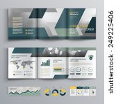 gray brochure template design... | Shutterstock .eps vector #249225406