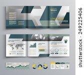 gray brochure template design... | Shutterstock .eps vector #249225406