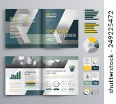 gray brochure template design... | Shutterstock .eps vector #249225472