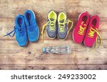 various pairs of colorful... | Shutterstock . vector #249233002