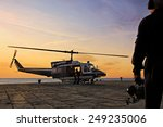 A Helicopter Department Divers...