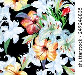 seamless floral pattern on a... | Shutterstock . vector #249246835