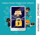protect your mobile from the... | Shutterstock .eps vector #249248062