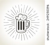 beer mug with foam badge vector ... | Shutterstock .eps vector #249250396
