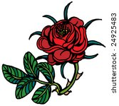 red rose rustic   Shutterstock .eps vector #24925483