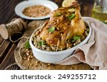 chicken stuffed with rice and... | Shutterstock . vector #249255712