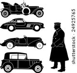 Old Car Collection   Vector