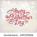 happy st. valentine's day... | Shutterstock .eps vector #249259006