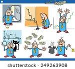cartoon vector illustration set ... | Shutterstock .eps vector #249263908
