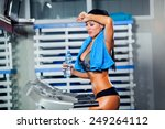 Fitness Woman. Beautiful Young...