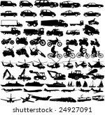 transportation silhouettes... | Shutterstock .eps vector #24927091