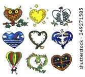 illustration set with hearts... | Shutterstock . vector #249271585