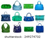 female bags collection on white ... | Shutterstock . vector #249274732