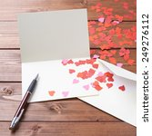 Empty Copyspace Valentine Card...