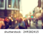 people in bokeh  street of... | Shutterstock . vector #249282415