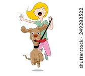 an image of a dog pulling its... | Shutterstock .eps vector #249283522