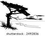 seascape illustration | Shutterstock .eps vector #2492836