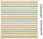 vector set of vintage borders... | Shutterstock .eps vector #249294922