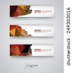 business design templates. set... | Shutterstock .eps vector #249303016