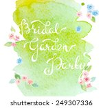 invitation with watercolor...   Shutterstock .eps vector #249307336