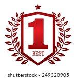 number one emblem | Shutterstock .eps vector #249320905