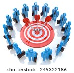teamwork concept.isolated on... | Shutterstock . vector #249322186