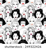 Crowd Of Women With Red Lips...