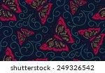 vector seamless pattern element.... | Shutterstock .eps vector #249326542