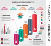 infographics elements. 3d... | Shutterstock . vector #249334432