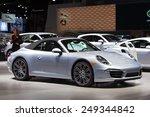 Постер, плакат: A Porsche 911 Cabriolet