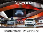 Small photo of DETROIT - JANUARY 15: The Acura display January 15th, 2015 at the 2015 North American International Auto Show in Detroit, Michigan.