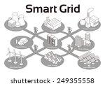 smart grid image illustration ... | Shutterstock .eps vector #249355558