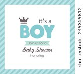 baby announcement card. vector... | Shutterstock .eps vector #249359812