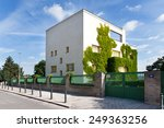 Small photo of PRAGUE, CZECH REPUBLIC - JUN 11, 2014: famous functionalistic Loos (Mueller) villa - national cultural landmark, designed in 1930 by architect Adolf Loos, Stresovice district, Prague, Czech republic