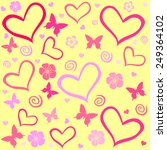 seamless pattern with hearts.... | Shutterstock .eps vector #249364102