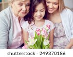 females of various ages looking ... | Shutterstock . vector #249370186