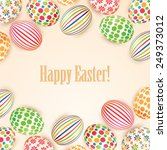 set of colorful easter eggs | Shutterstock .eps vector #249373012