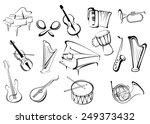 large set of musical... | Shutterstock .eps vector #249373432