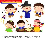 korean traditional games vector ... | Shutterstock .eps vector #249377446
