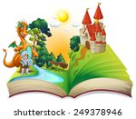 illustration of a dragon and a... | Shutterstock .eps vector #249378946