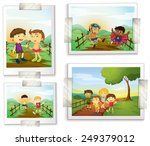 illustration of four photos of... | Shutterstock .eps vector #249379012