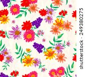 seamless floral  pattern | Shutterstock .eps vector #249380275