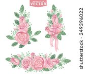 watercolor floral compositions...   Shutterstock .eps vector #249396022