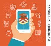vector online education concept ... | Shutterstock .eps vector #249405712
